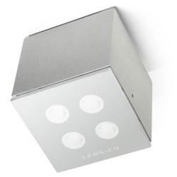 Plafoniera da esterno LED 12W in alluminio e vetro color grigio - AFRODITA