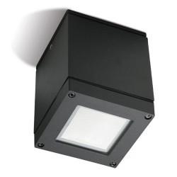 Plafoniera da esterno PAR30 E27 75W in alluminio e vetro color grigio scuro - AFRODITA