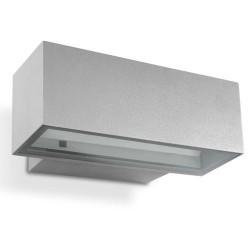 Applique da giardino R7s 150W HID in alluminio e vetro color grigio - AFRODITA