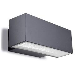 Applique da giardino 2 x G24q-3 26W in alluminio e vetro color grigio scuro - AFRODITA