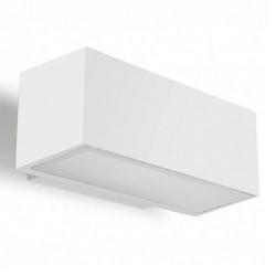 Applique da giardino R7s 150W in alluminio e vetro color bianco - AFRODITA