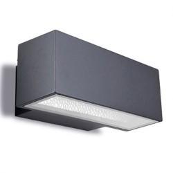 Applique da giardino G24d-3 26W in alluminio e vetro color grigio scuro - AFRODITA