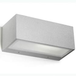 Applique da giardino E27 max. 60W in alluminio e vetro color grigio - NEMESIS
