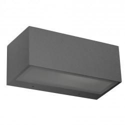 Applique da giardino E27 max. 60W in alluminio e vetro color grigio scuro - NEMESIS