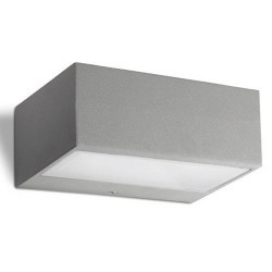Applique da giardino R7s max. 100W in alluminio e vetro color grigio - NEMESIS