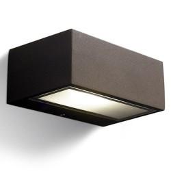 Applique da giardino R7s max. 100W in alluminio e vetro color marrone - NEMESIS