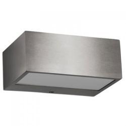Lampada applique da esterno R7s max. 100W in acciao satinato e vetro - NEMESIS