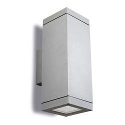 Applique da giardino 2 x E27 PAR30 max. 75W in alluminio e vetro color grigio - AFRODITA