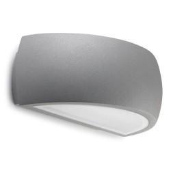 Lampada da giardino esterno 2xG24q-3 26W in alluminio e vetro color grigio - DELFOS
