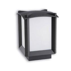 Lanterna sopra-muro da esterno grigio scuro - MARK