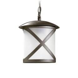 Lampada a sospensione da esterno color ruggine - CROSS