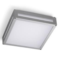 Plafoniera LED 3000K da esterni color grigio - LEGGETT