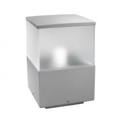 Lanterna sopra-muro da esterno grigio - CUBIK
