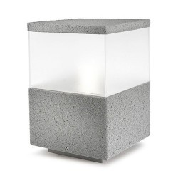 Lanterna sopra-muro da esterno grigio pietra - CUBIK
