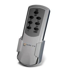 Ventilatore da soffitto con luce LED e telecomando color bianco - CEOS