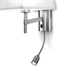 Struttura applique + LED lettura, nichel satinato - BRISTOL