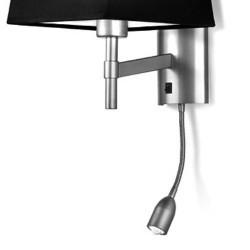 Struttura applique + LED lettura, cromo - BRISTOL