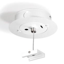 Accessorio da sospensione con presa di corrente bianco
