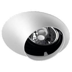 Downlight a incasso QR111/AR111 bianco