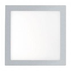 Plafoniera LED  ad incasso grigia 120x120mm Faro FONT