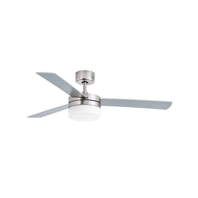 Ventilatore da Soffitto alluminio con luce Faro PANAY