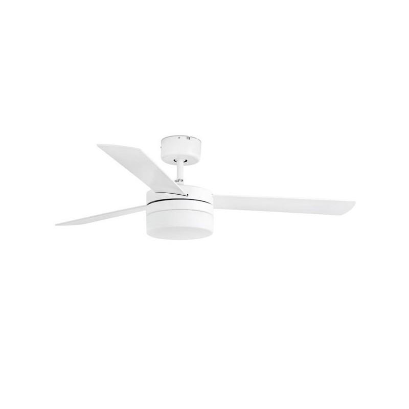 Ventilatore da Soffitto bianco con luce Faro PANAY