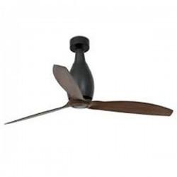 Ventilatore da Soffitto nero opaco con pale in legno Faro MINI ETERFAN