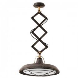 Lampada a sospensione LED Faro PLEC marrone invecchiato