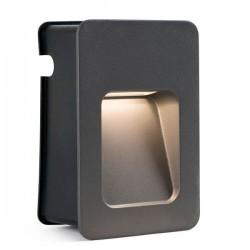 Lampada a incasso LED 100lm Faro NASE-1 grigio scuro