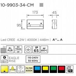 Illumina bordi finestre LED 4.2W 4000K 446lm Leds-C4 FINESTRA grigio