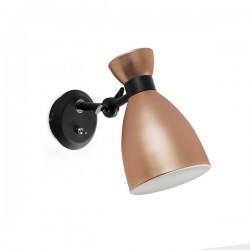 Appliques Faro RETRO LAMPADA DA PARETE RAME E14 MAX 20W