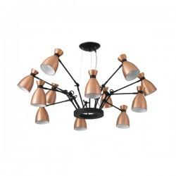Lampade a Sospensione Faro RETRO LAMPADA SOSPENSIONE RAME 12XE14 MAX 20W