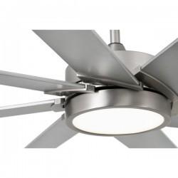 Ventilatori da soffitto con luce Faro CENTURY Ø1650 8 PALAS NIQUEL MATE LED 15W 3000K