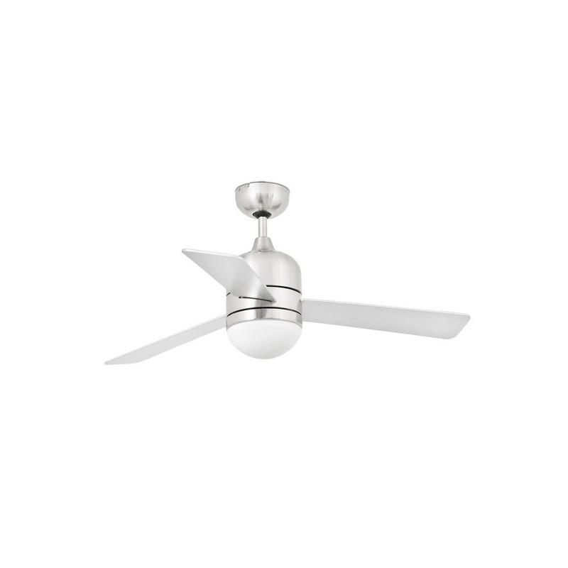 Ventilatori da soffitto con luce Faro CEBU Ø106CM NIQUEL MATE 3 PALAS 2 X E14 40W