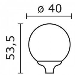 Boccia per Lampioni INDURA Boccia IP55 E27 1L. Nero