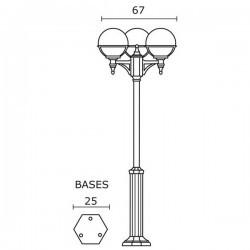 Lampioni 3L. CLIC-CLAC Boccia IP44 E27 Nero