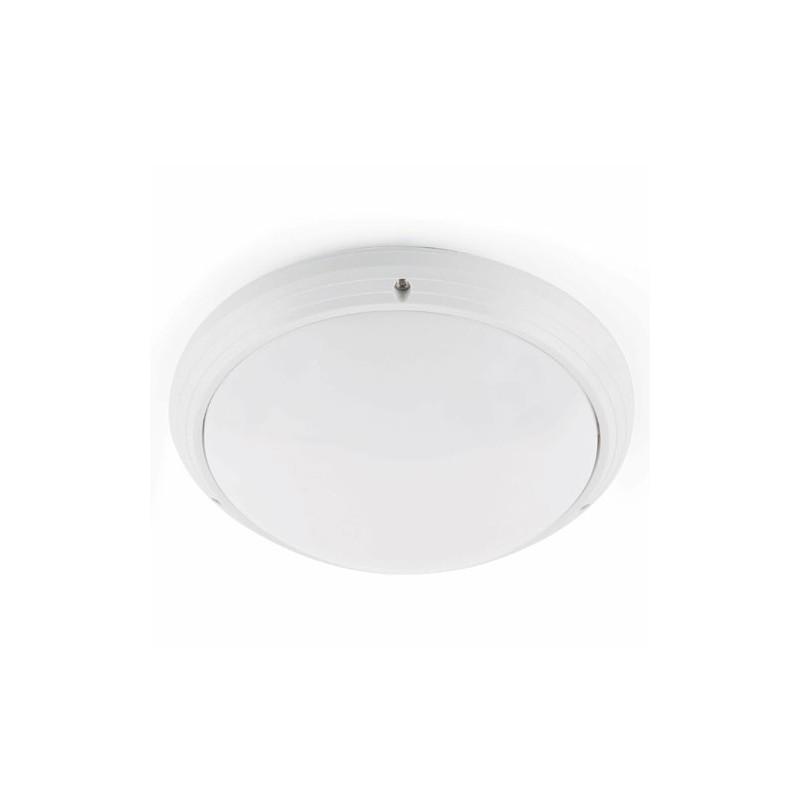Lampada plafoniera da soffito esterno in ABS color bianco - DAKRON
