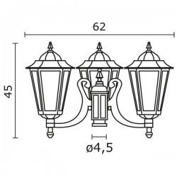 Boccia per Lampioni 3L. ELITE 6 IP43 E27 Opaco Bianco