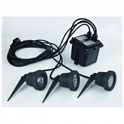 Faro proiettore da esterno FOCUS IP68 3x50W GU5,3 Nero