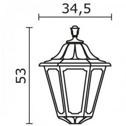 Boccia per Lampioni INDURA BIG 6 IP65 GX53 Nero
