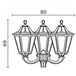Boccia per Lampioni 3L. INDURA BIG 6 IP55 E27 Nero