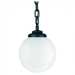 Lampada a sospensione da esterno INDURA Boccia IP55 E27 Nero