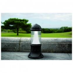 Lampioncino da giardino SAURO IP55 E27 100W 50cm Nero