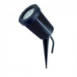 Faro proiettore da esterno con Picchetto TIR IP66 GU10 50W Nero