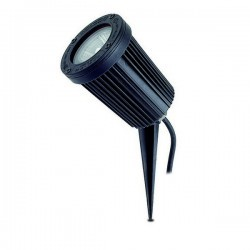 Faro proiettore da esterno con Picchetto TIR IP66 GU10 50W grigio