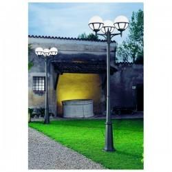Colonna per Lampioni 3L. ROUND IP44 E27 Antracite