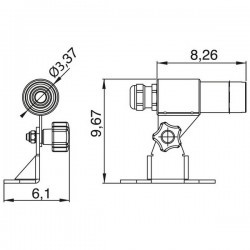 Faro proiettore da esterno SPYGLASS IP68 RGB 3W Inox