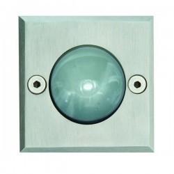 Lampade a incasso da esterno square GLASS IP67 LED 1x1W Inox