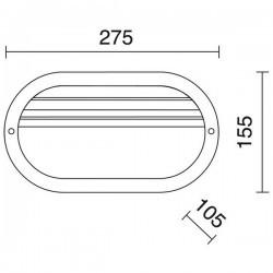 Applique da esterno FAR IP44 60W E27 Bianco