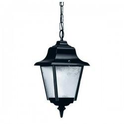 Lampadas Colgantes da esterno ROB IP43 70W E27 Nero Vetro Opaco